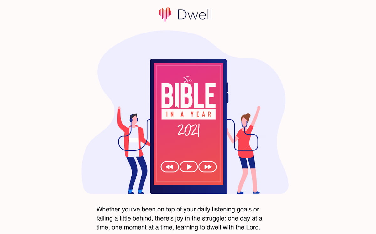 Dwell Bible email campaign preview